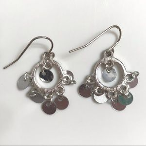 Dangling Silver Earrings
